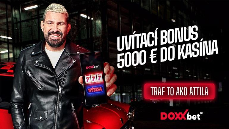 Udrite ako Attila a získajte bonus 5 000 € v kasíne DOXXbet