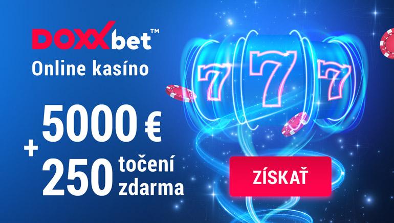 Kasíno DOXXbet Slovensko ponúka 250 spinov zadarmo