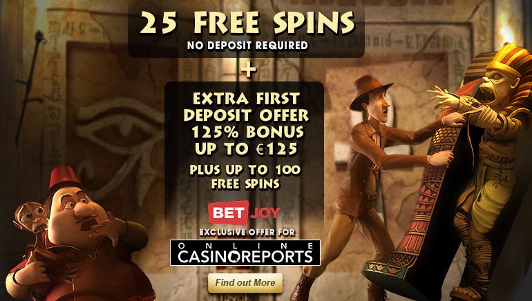 Získajte svojich 25 zatočení zadarmo bez nutnosti vkladu v BETJOY Casino