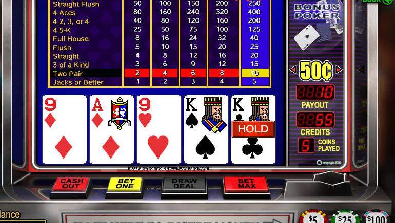 Online video poker zadarmo